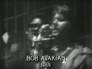 Bob Avakian speaking at a 1969 rally sponsored by the Black Panther Party