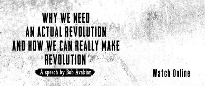 Announcing the Film of Bob Avakian's Speech